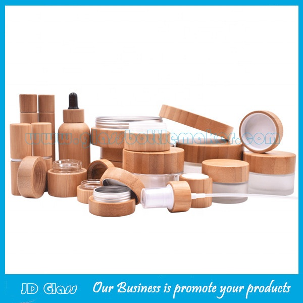 Bamboo Cosmetic Bottles And Jars