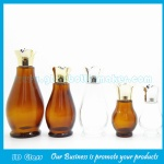 Single Calabash Amber and Clear Essential Oil Glass Bottles With New Style Gold Cap