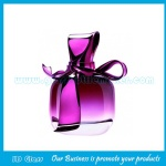 50ml Purple Perfume Glass Bottle With Bowknot Cap