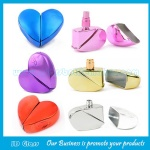 25ml Heart Colored Perfume Spraying Glass Bottle With Sprayer