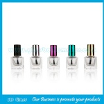 8ml Clear Square Glass Nail Polish Bottle With Cap and Brush