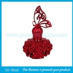50ml High Quality Red Colored Perfume Glass Bottles With Cap and Sprayer