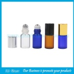 1ml,2ml,3ml,5ml,10ml Clear,Amber,Blue Perfume Roll On Bottles With Cap and Roller