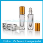 6ml Clear Square Perfume Roll On Glass Bottle With Cap and Roller