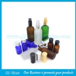 Clear,Amber,Blue and Green Frost Essential Oil Glass Bottles