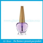5ml Heart Glass Nail Polish Bottle With Cap and Brush