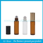 5ml Clear And Amber Perfume Roll On Bottle With Cap and Roller