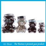 50ml,80ml,150ml,300ml Clear Bear Style Glass Honey Jars With Lids