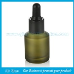 15ml Olive Green Sloping Shoulder Glass Dropper Bottles