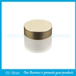 30g Frost Round Glass Cosmetic Jar With Gold Lid